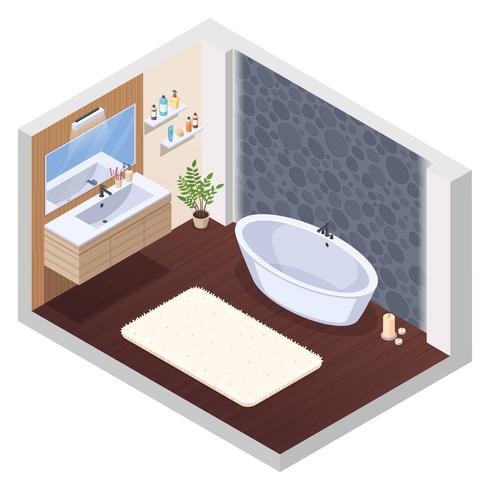 Whirlpool Badezimmer Interieur vektor