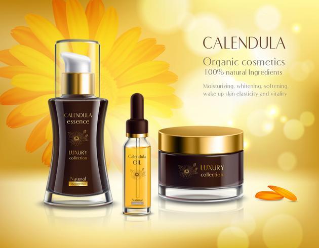 Kosmetika produkter Realistisk annonsaffisch vektor