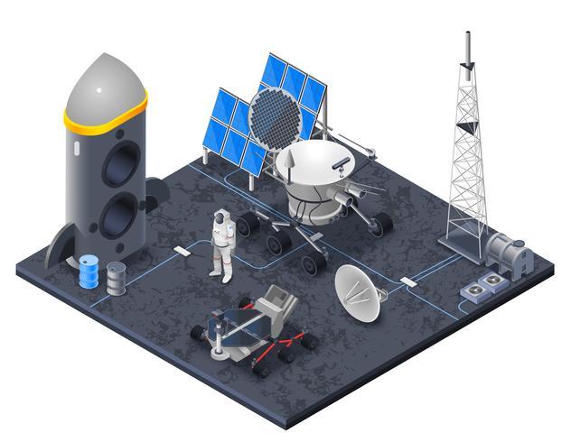 Space Isometric Concept vektor