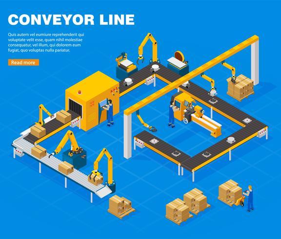 Conveyor Line Concept vektor