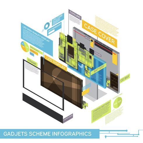 En gadgetprogram Infographics vektor