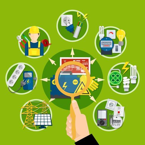 Sammansättning av elektriska apparater och teknologier vektor