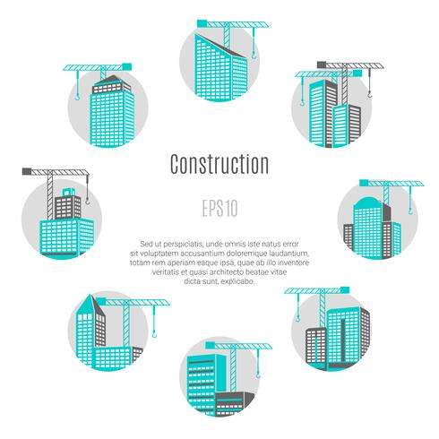 Bau-Konzept-Illustration vektor