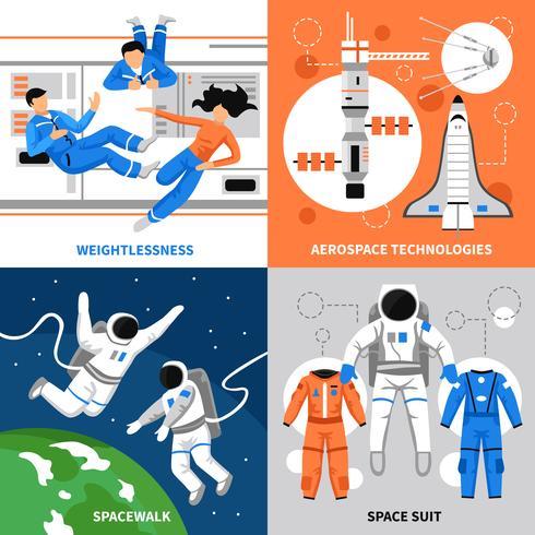 Astronauter 2x2 Design Concept vektor