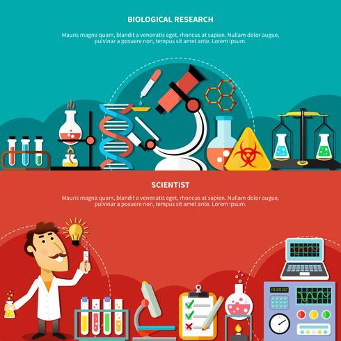 Biologisches Wissenschaftskonzept vektor