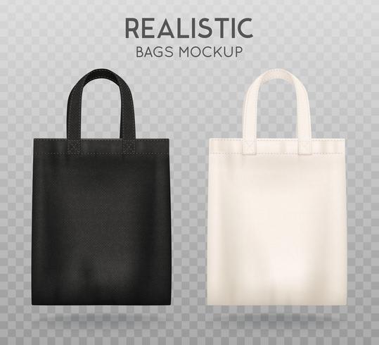 Schwarz Weiß Tote Bags Transparenter Hintergrund vektor