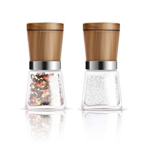 Salz- und Pfeffermühlen-Zusammensetzung vektor