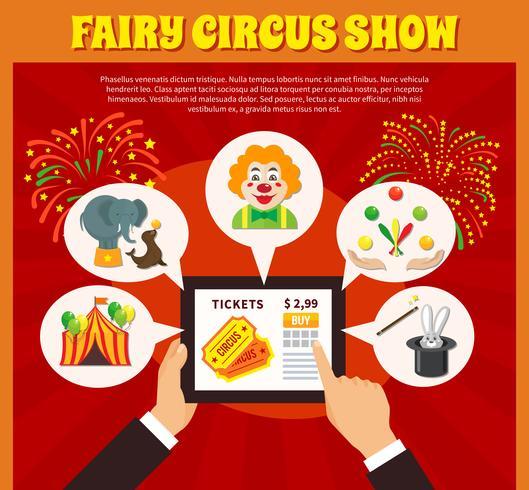 Cirkus webbplats koncept vektor