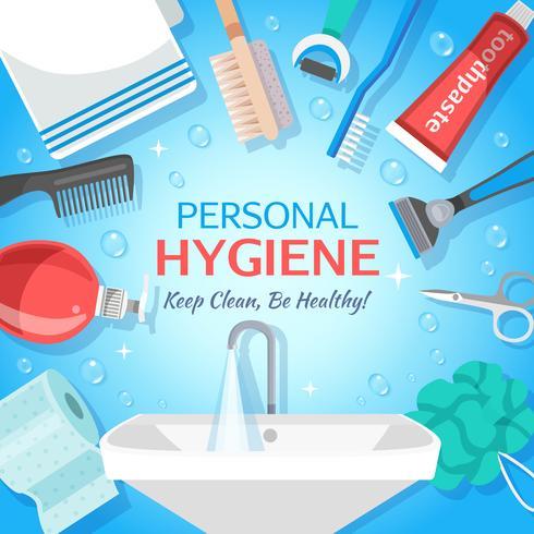 Gesunder persönlicher Hygiene-Hintergrund vektor