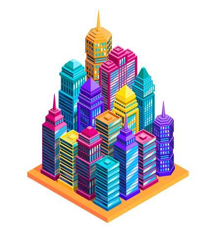 Stadtgebäude-Konzept vektor