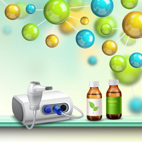 molekyler hälsa förbättring komposition vektor
