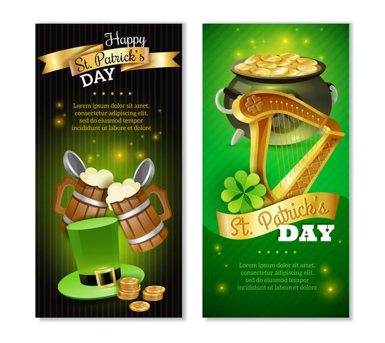 Saint Patricks Day Vertikal Banners Set vektor