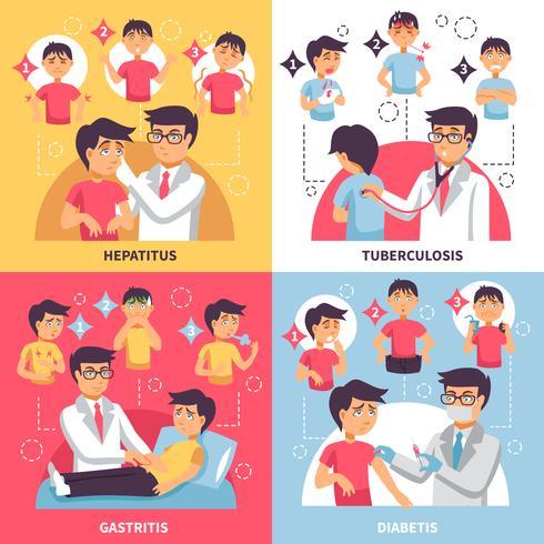 Diagnose Krankheiten Konzeptionelle Zusammensetzung vektor