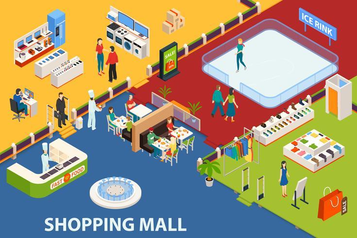 Einkaufszentrum Set Objekt vektor