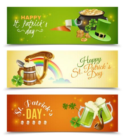 St. Patricks Day Banner Set vektor