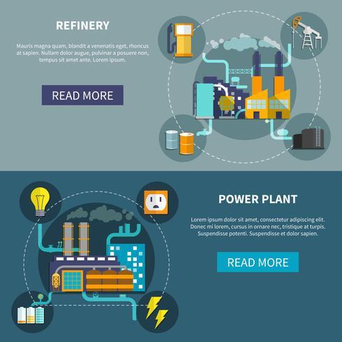 Raffinerie- und Kraftwerkslayout vektor