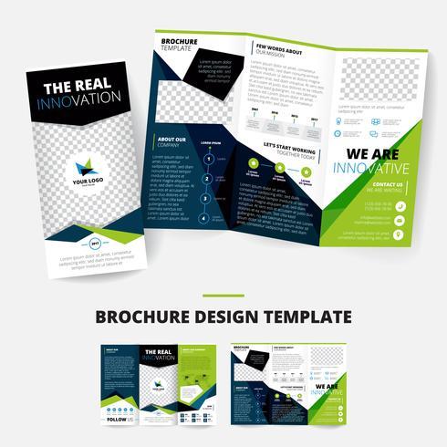 Broschyr Design Mall vektor