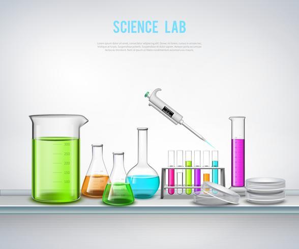 Chemische Ausrüstung auf Regalzusammensetzung vektor