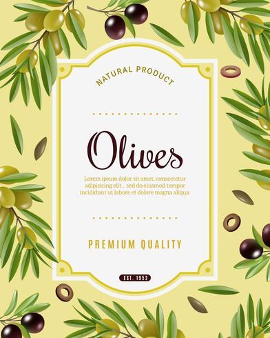 Olive Frame Hintergrund vektor