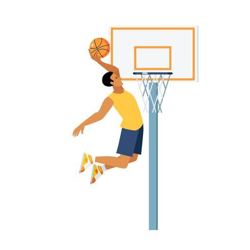 Baskethopp Illustration vektor