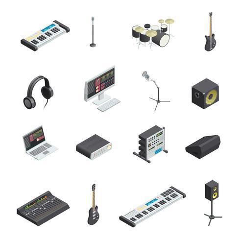 Musikstudio Elementsatz vektor