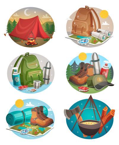 Camping-Kompositionsset für Camping vektor
