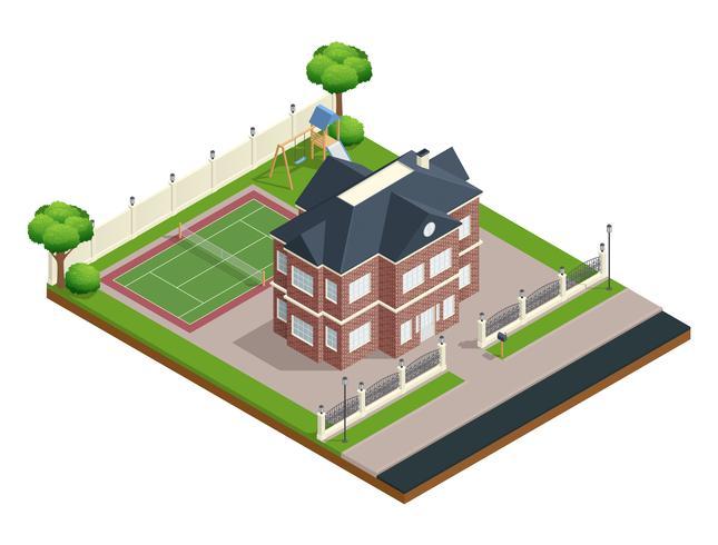 Vorort Haus Zusammensetzung vektor