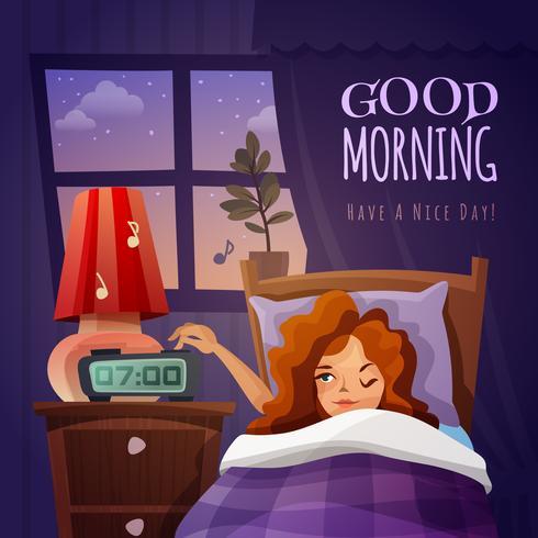 Guten Morgen Design Zusammensetzung vektor