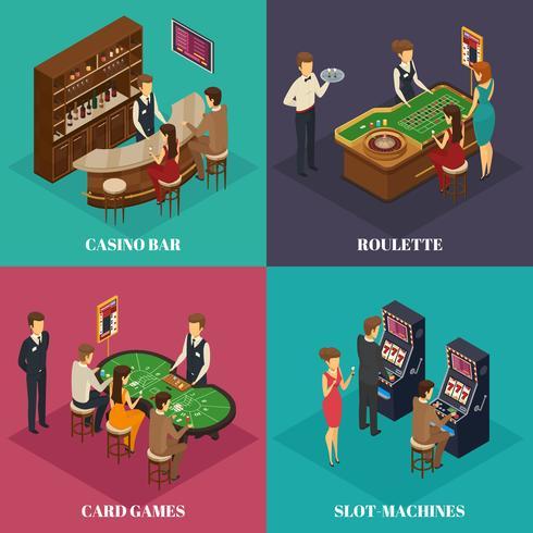 Casino Isometrisk Sammansättning vektor