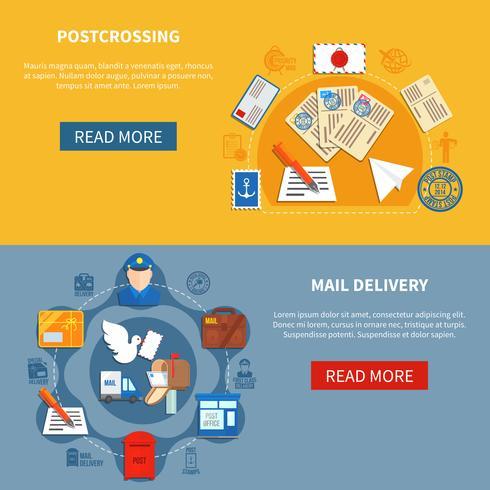 Postkommunikation Färgglada banderoller vektor