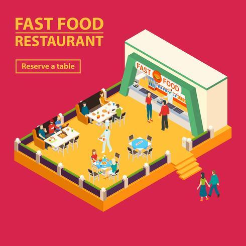 Fast Food Restaurant Hintergrund vektor