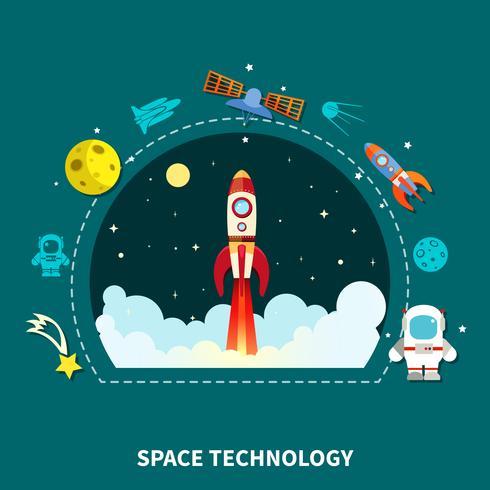 Raumfahrttechnik-Konzept vektor