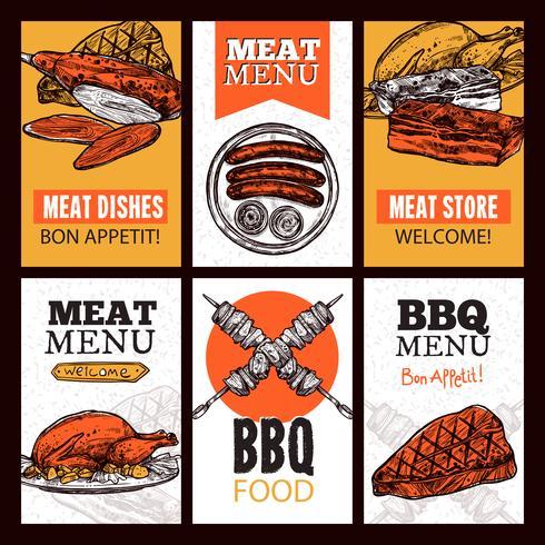 Fleischgerichte vertikale Banner vektor