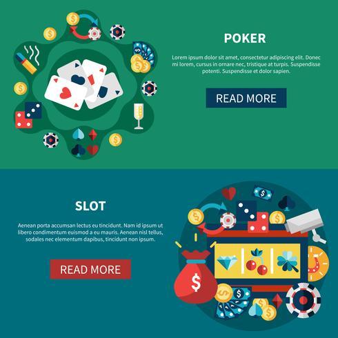 Casino Spel Banners Set vektor