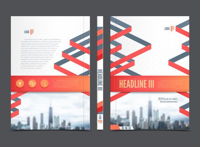 Geschäftsbericht Broschüre Flyer Design vektor