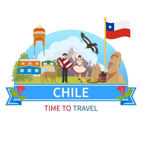 Chile Vector Sammansättning