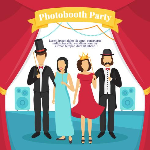 Foto Booth Party Illustration vektor