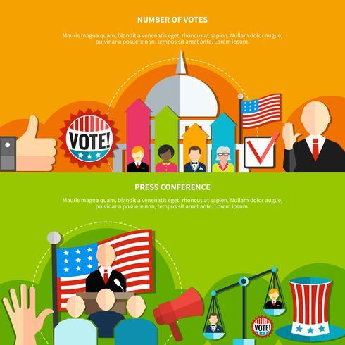 Wahlkonferenz und Abstimmung vektor
