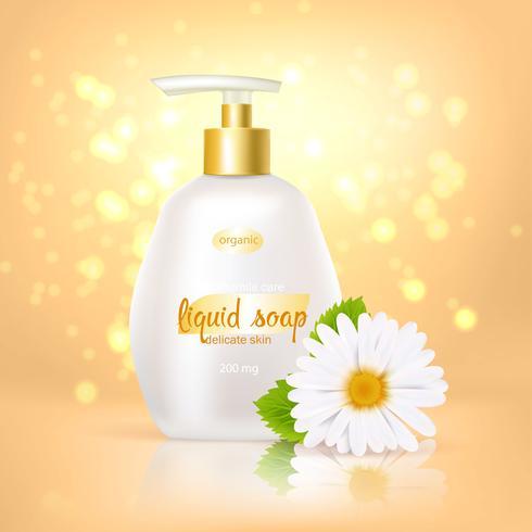 Cammomile Soap Background vektor