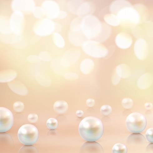 Perlen Perlen Bokeh Hintergrund vektor