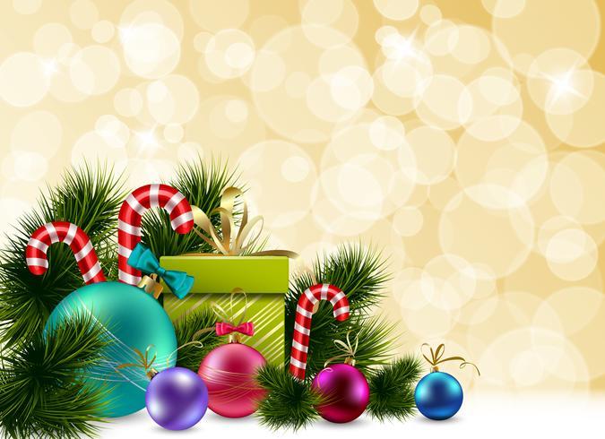 Färgglada julbakgrund vektor