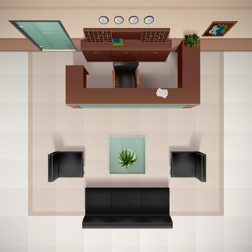 Foyer Inredning Illustration vektor