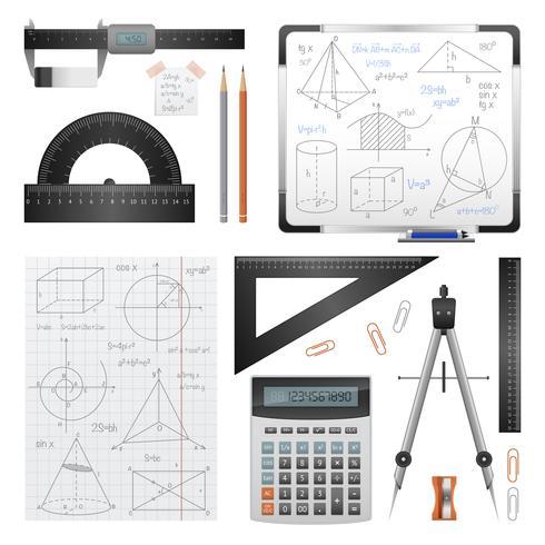 Matematiska vetenskapliga bilder Set vektor