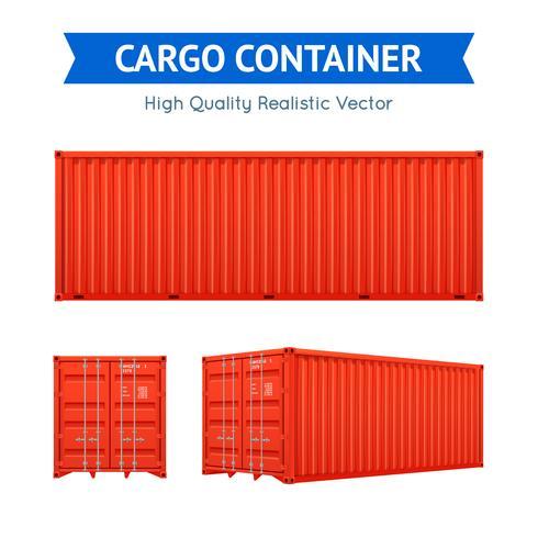 Fracht-Frachtcontainer vektor