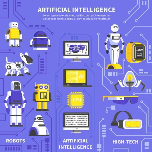 Künstliche Intelligenz Infografiken vektor