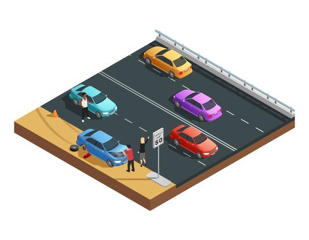 Autounfälle Zusammensetzung vektor