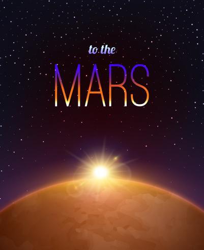 Mars Realistischer Hintergrund vektor