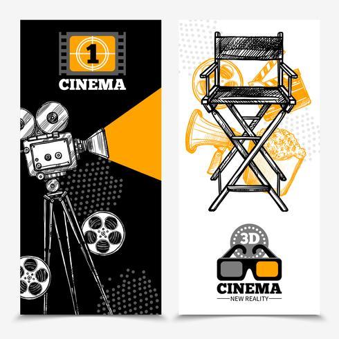 Kino-vertikale Banner vektor