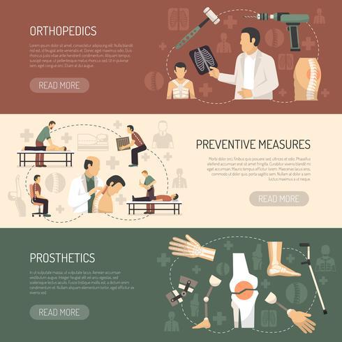 Ortopedi och traumatologi Horisontella banderoller vektor