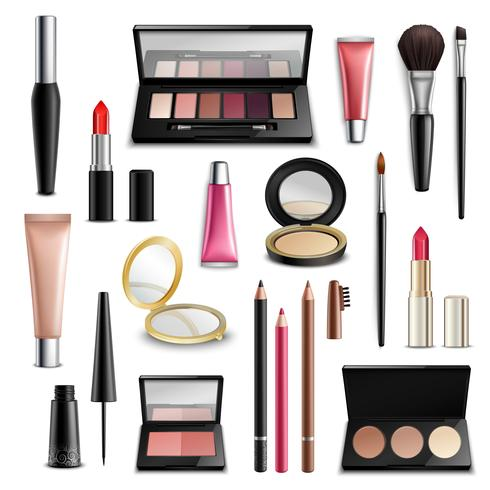 Makeup Cosmetics Zubehör Realistic.Items Collection vektor